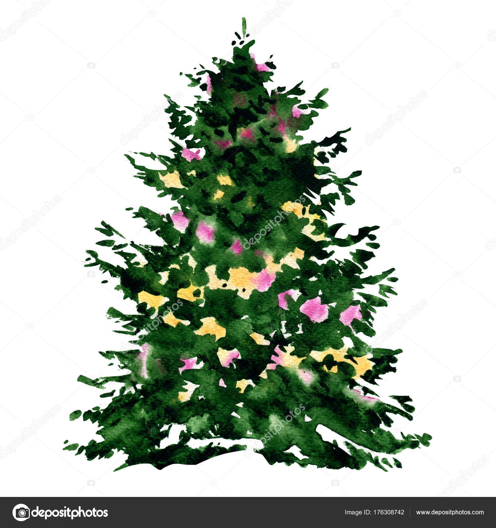 décoré le beau sapin vert, sapin pour les fêtes de noël