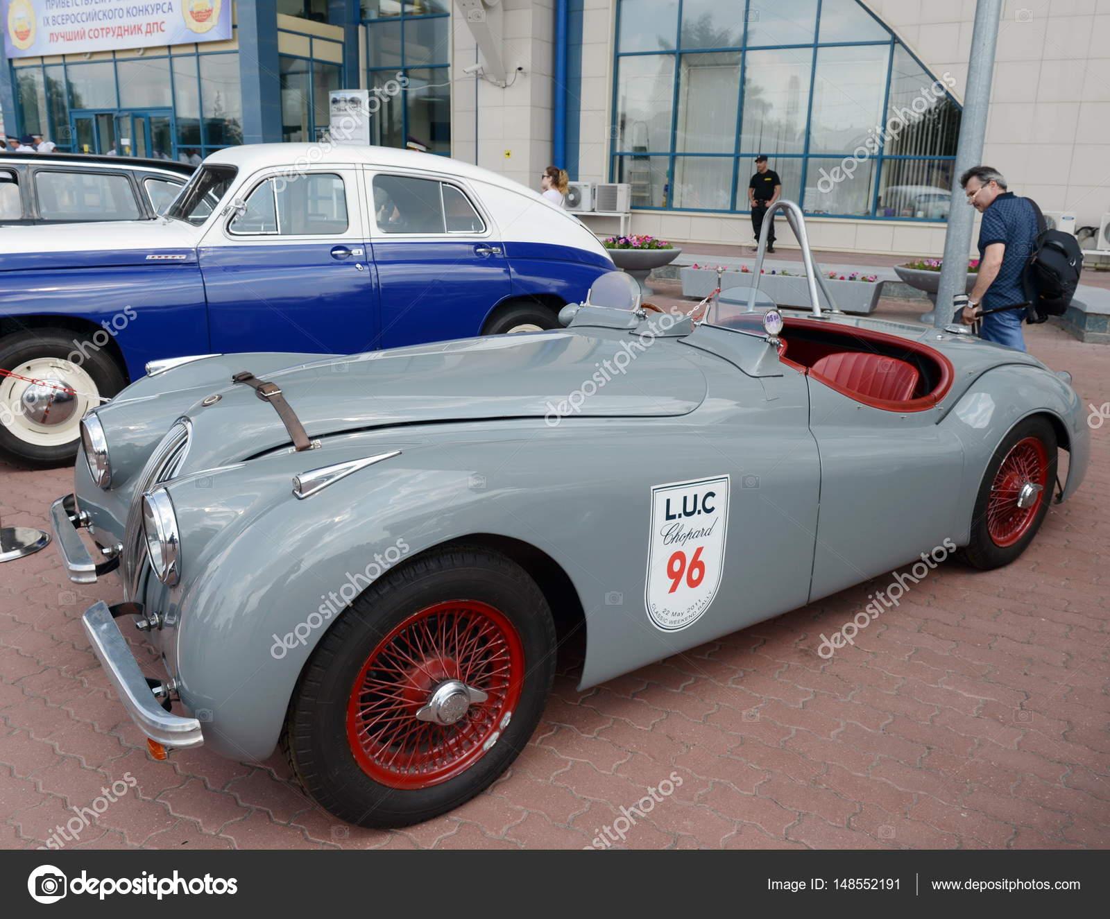 Vintage Jaguar Xk 120 U2014 Fotografia De Stock