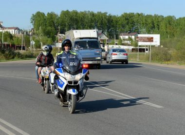 Officers of the motorized units of the road police detained the Teens on a scooter.