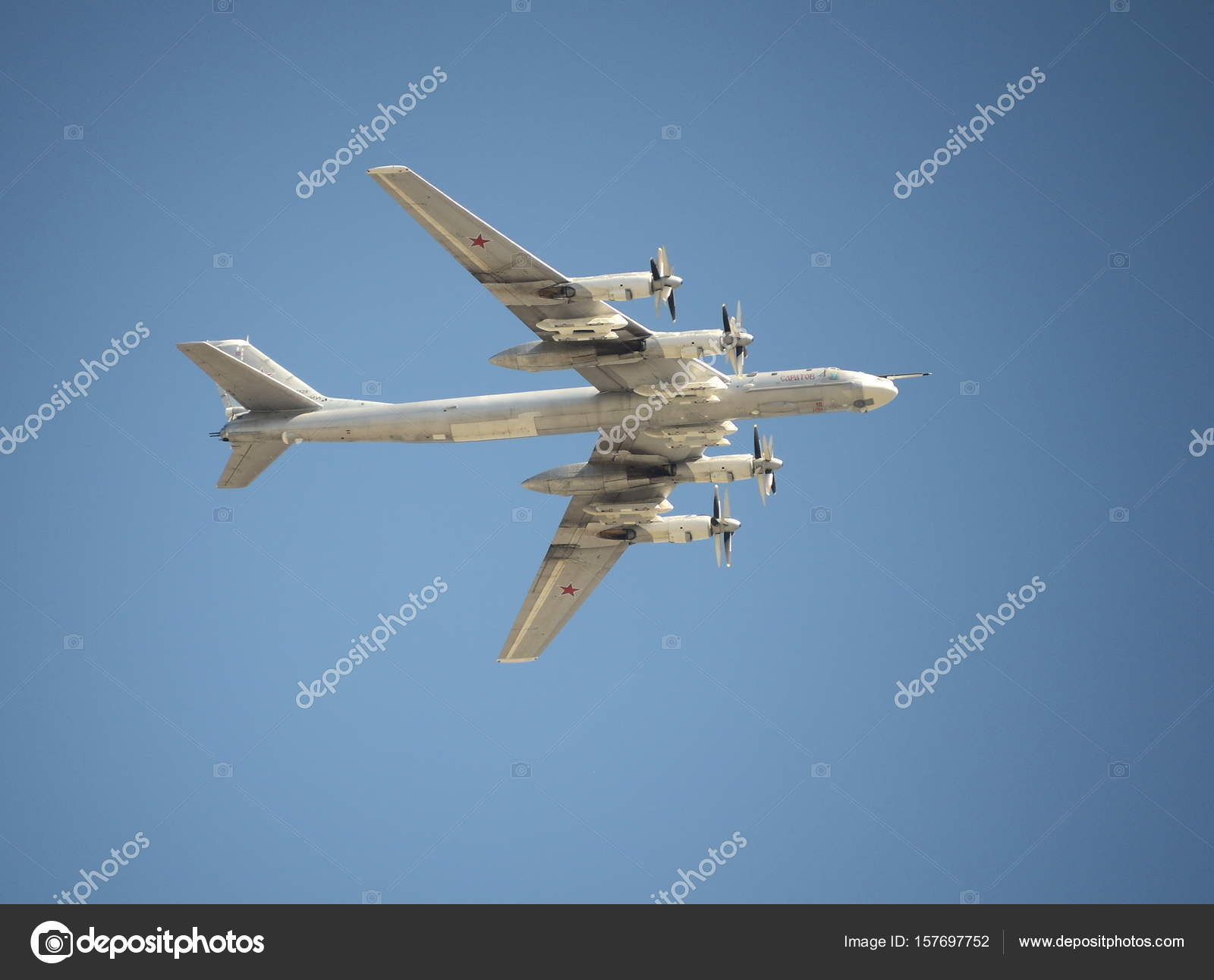 Strategische Bomber Tu 95 Bear Bei Der Probe Der Parade Der 72th