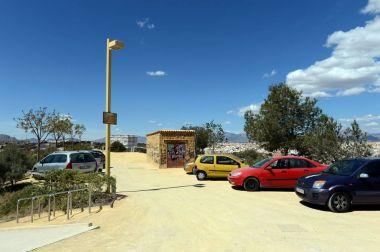Car Parking at the fortress of Santa Barbara.