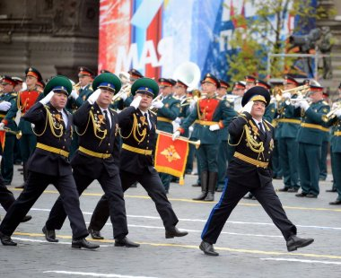 The head of the Moscow boundary Institute of FSB of Russia the General-the major Valery Kozlov during a parade on red square in honor of Victory Day.