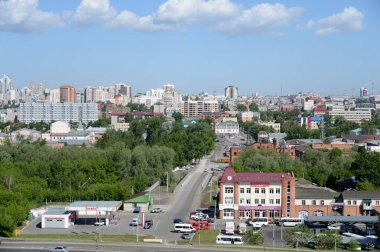 View of the city of Barnaul from the mountainous part.
