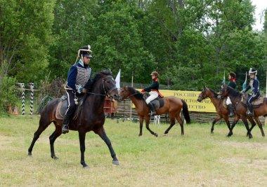 Russian cavalry in the Borodino field.