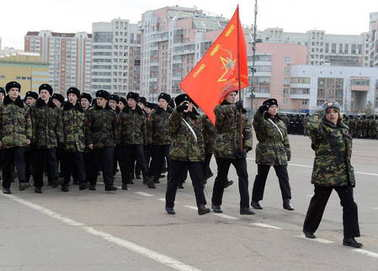Cadets of the Moscow Cadet Corps in memory of the heroes of the Battle of Stalingrad are preparing for the parade on November 7 on Red Square.