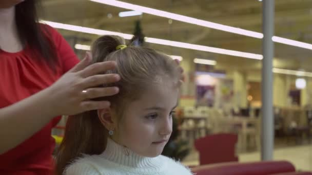 Lady Barber Make Hairstyle Stock Video Loginovvados 144444995