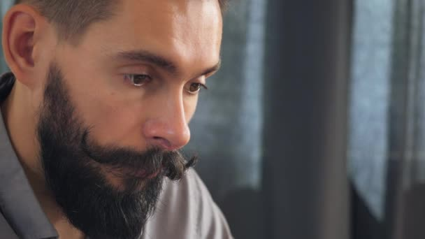 pensive brunette male