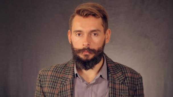 portrait bearded hipster