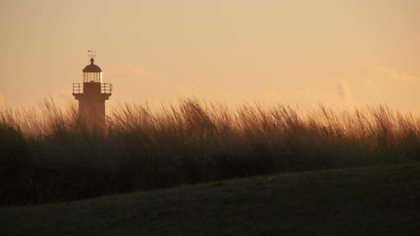 Porto maják při západu slunce