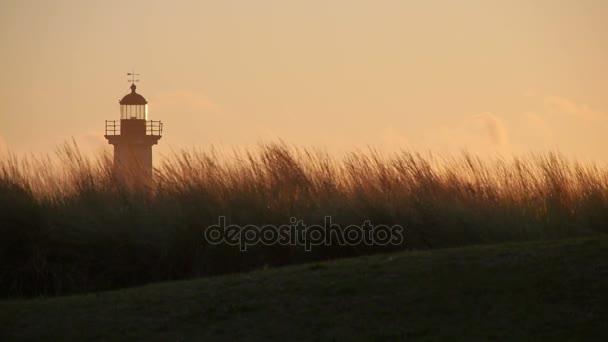 Porto Leuchtturm bei Sonnenuntergang