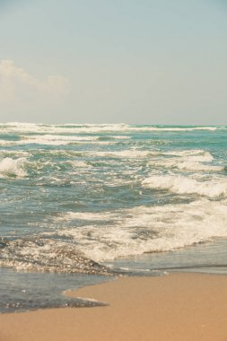 sandy beach in pastel colors