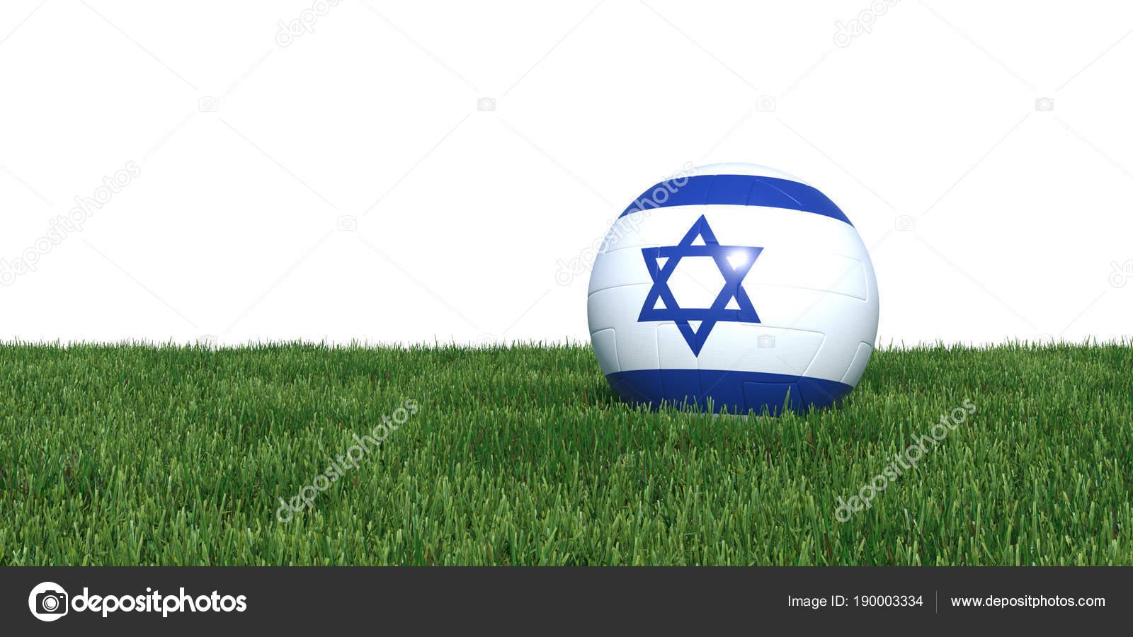 Bola de futebol de bandeira de Israel Israel na Copa do