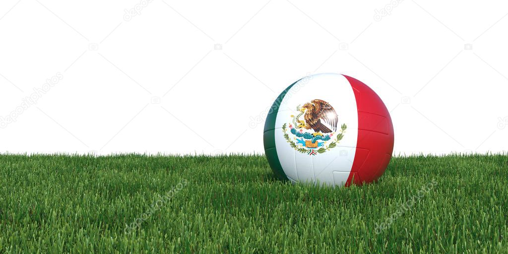 Mexico Mexican flag soccer ball lying in grass world cup 2018