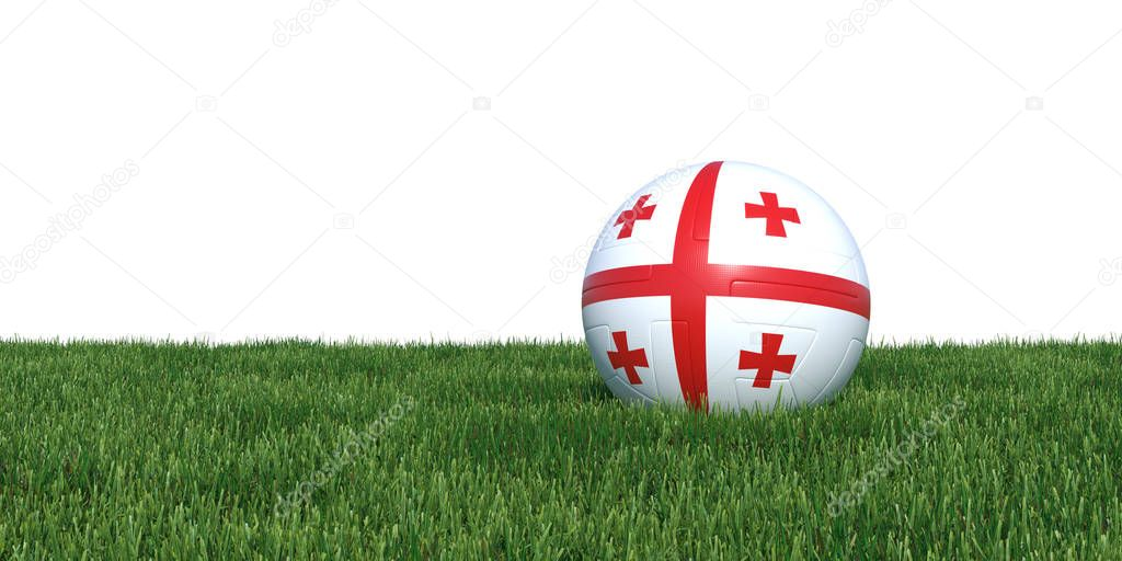 Georgia Georgian flag soccer ball lying in grass world cup 2018