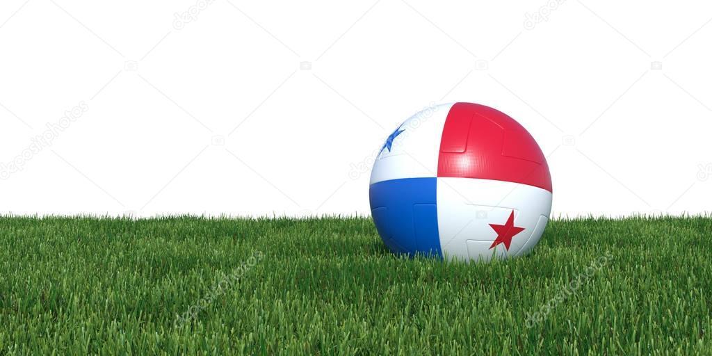 Panama Panamanian flag soccer ball lying in grass