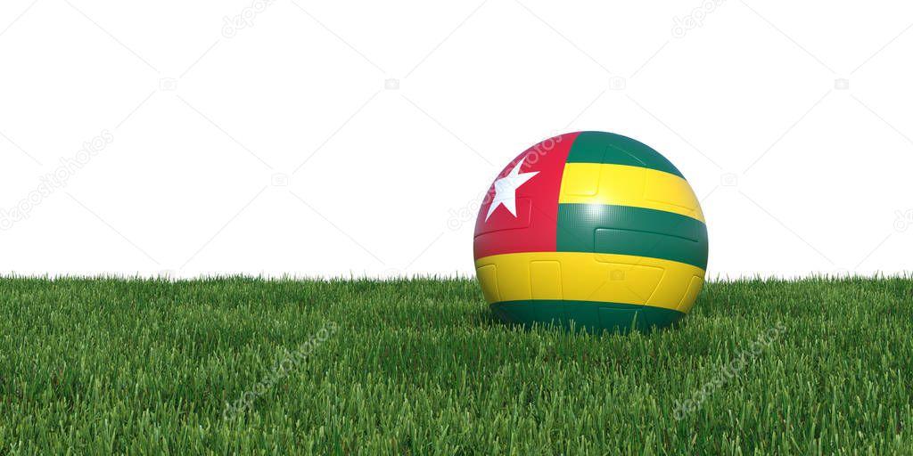 Togo Togolese flag soccer ball lying in grass