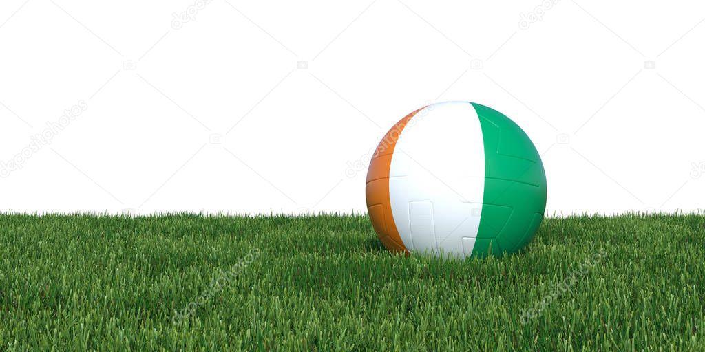 Cote d'Ivoire Ivorian flag soccer ball lying in grass