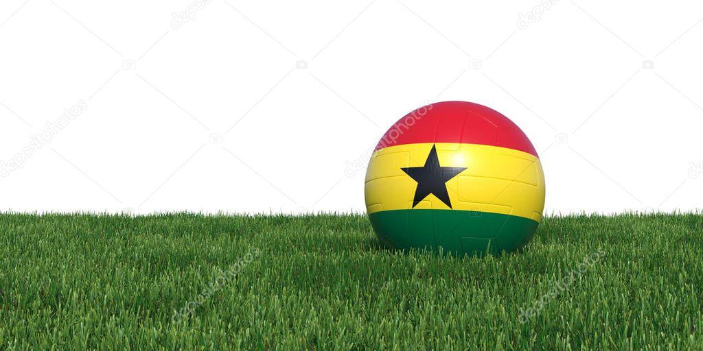 Ghana Ghanaian flag soccer ball lying in grass