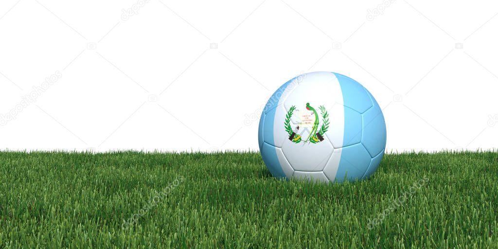 Guatemala Guatemalan flag soccer ball lying in grass