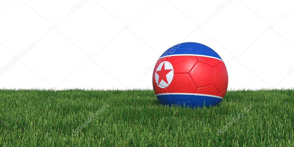 Korea Korean flag soccer ball lying in grass