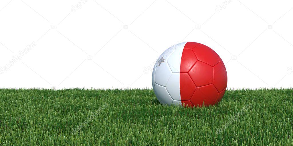 Malta Maltese flag soccer ball lying in grass