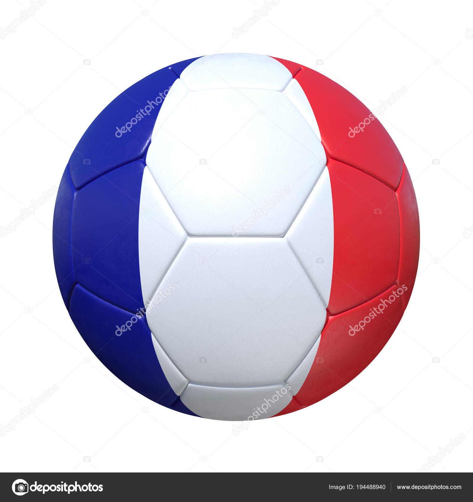 Франция французский футбольный мяч с национальным флагом — стоковое фото 5a326ba9779