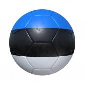 Estonia Estonian soccer ball with national flag