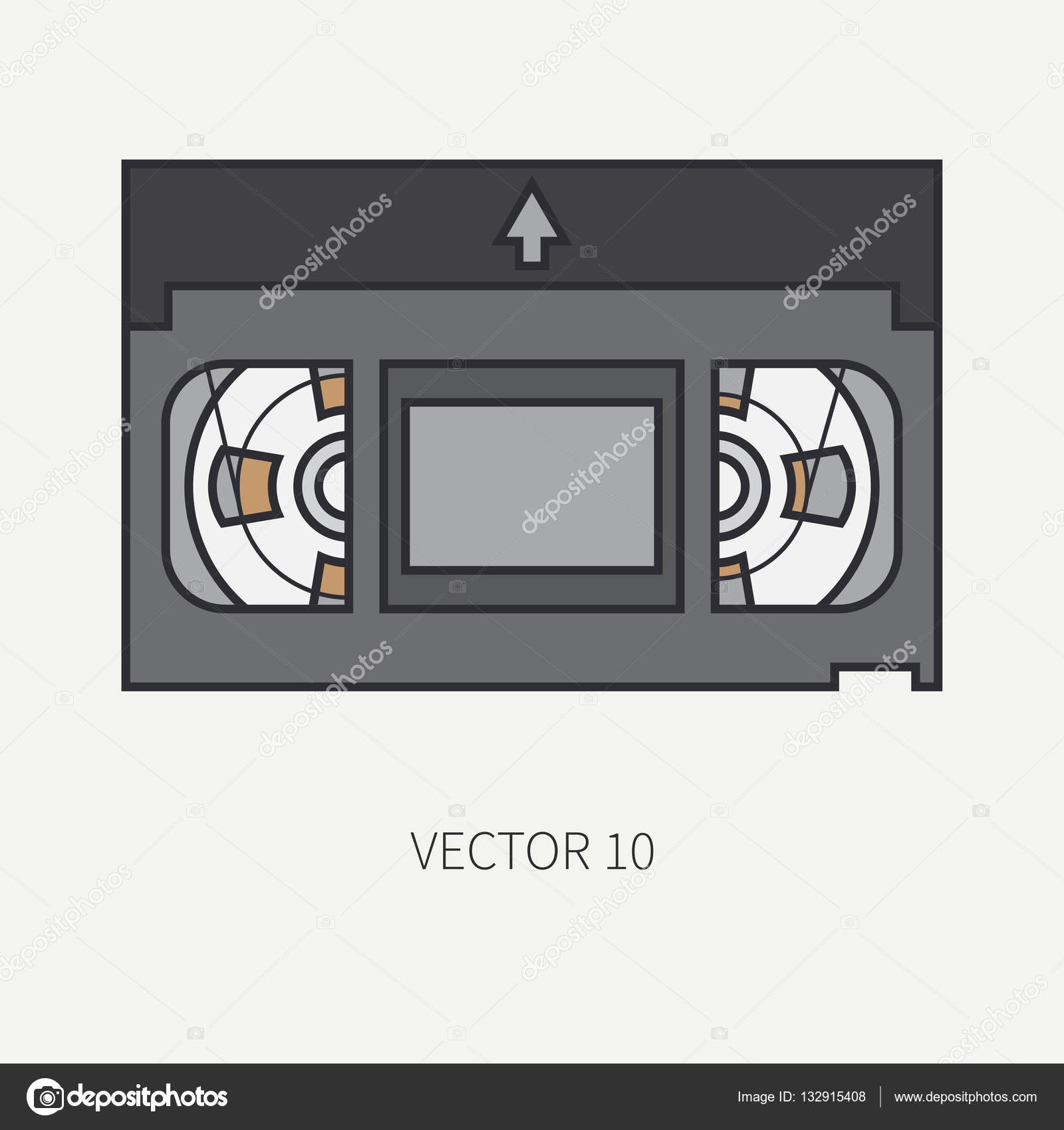Vector illustration and element for your design , wallpaper. Collection. Screenplay. Movie. Analog.