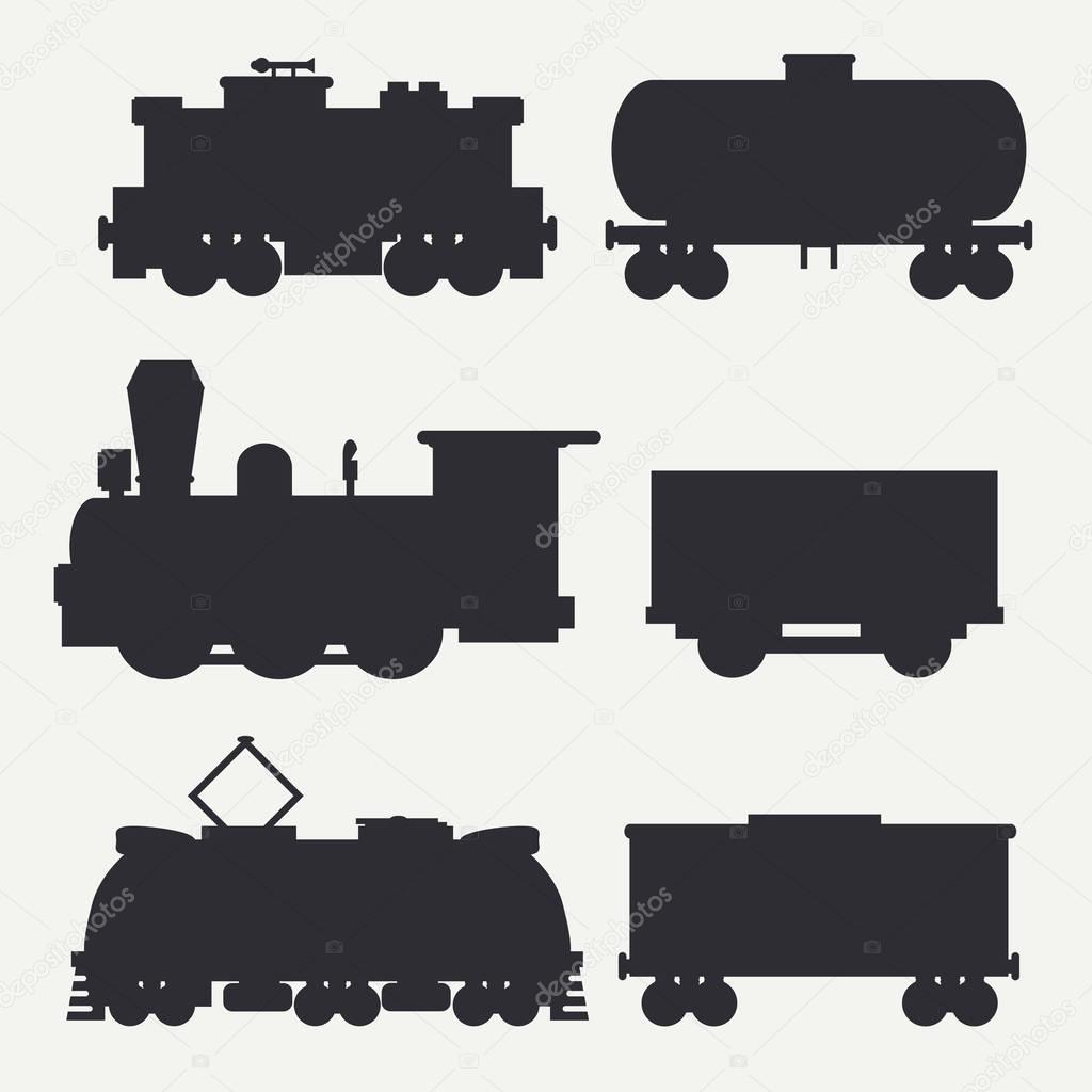 Мультяшные открытки поезд с танками цистернами полувагонами