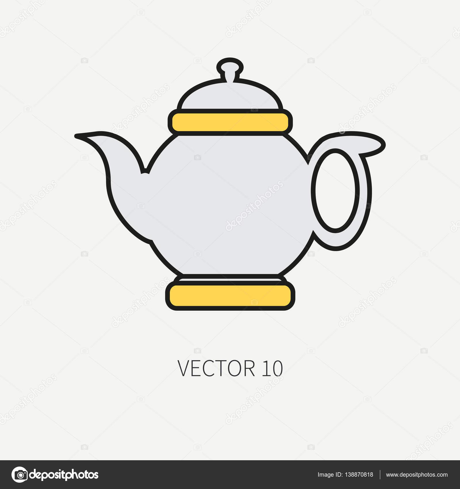 Línea de iconos de utensilios de cocina de color plano vector ...
