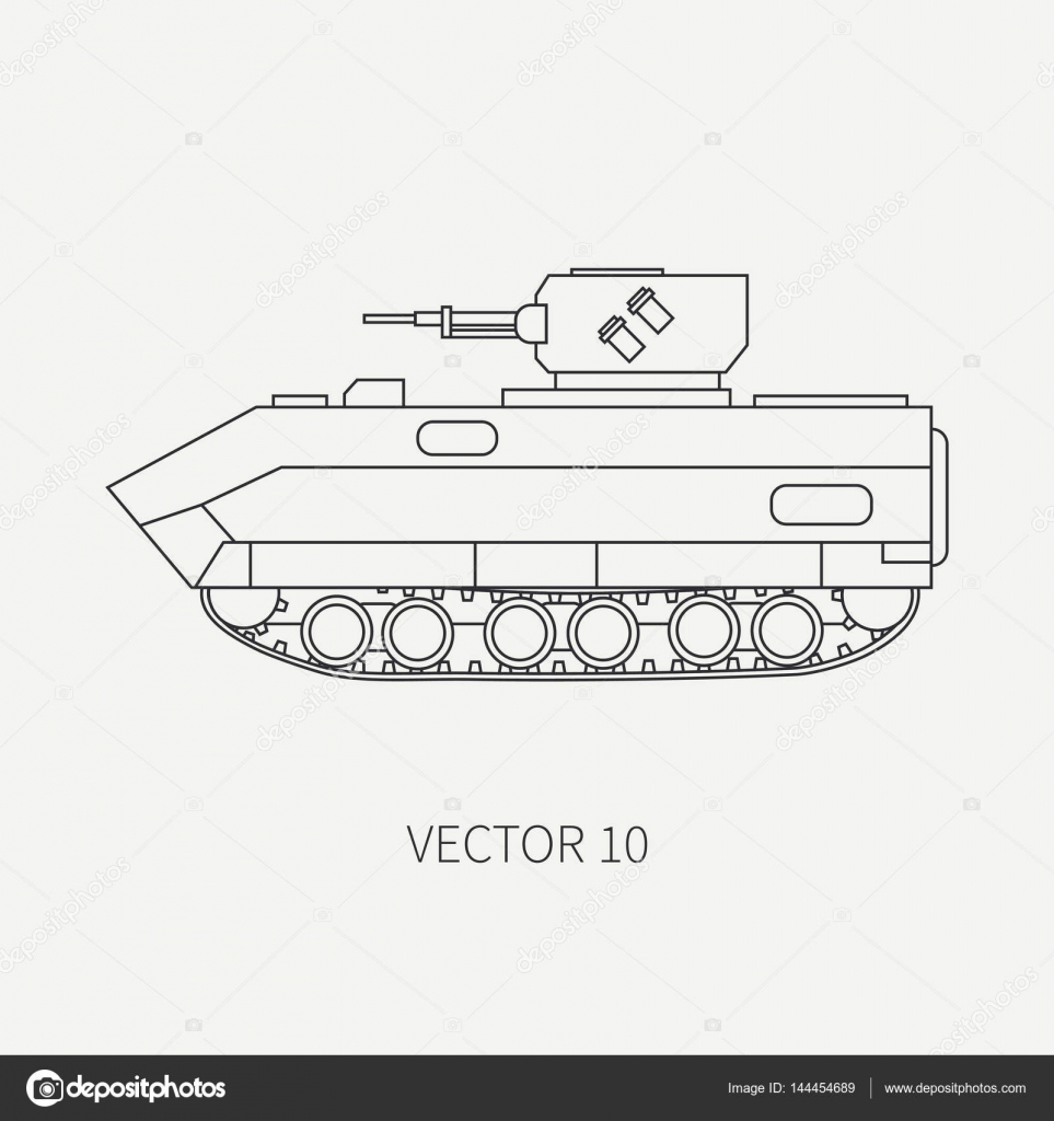 Línea plana simple vector icono infantería asalto armado ejército ...