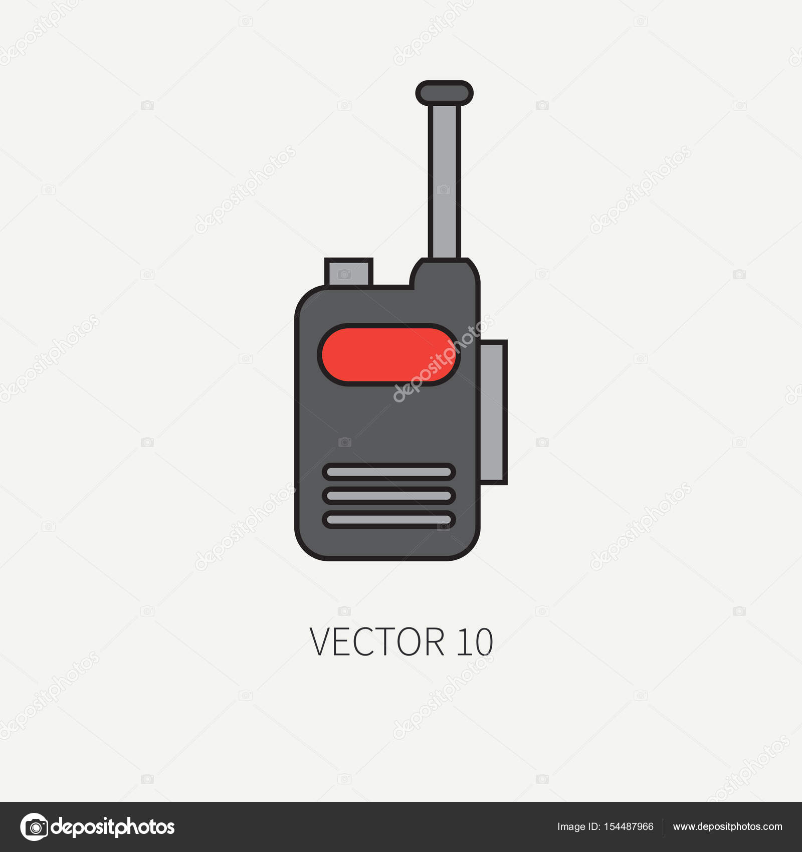 Line Flat Color Vector Military Icon