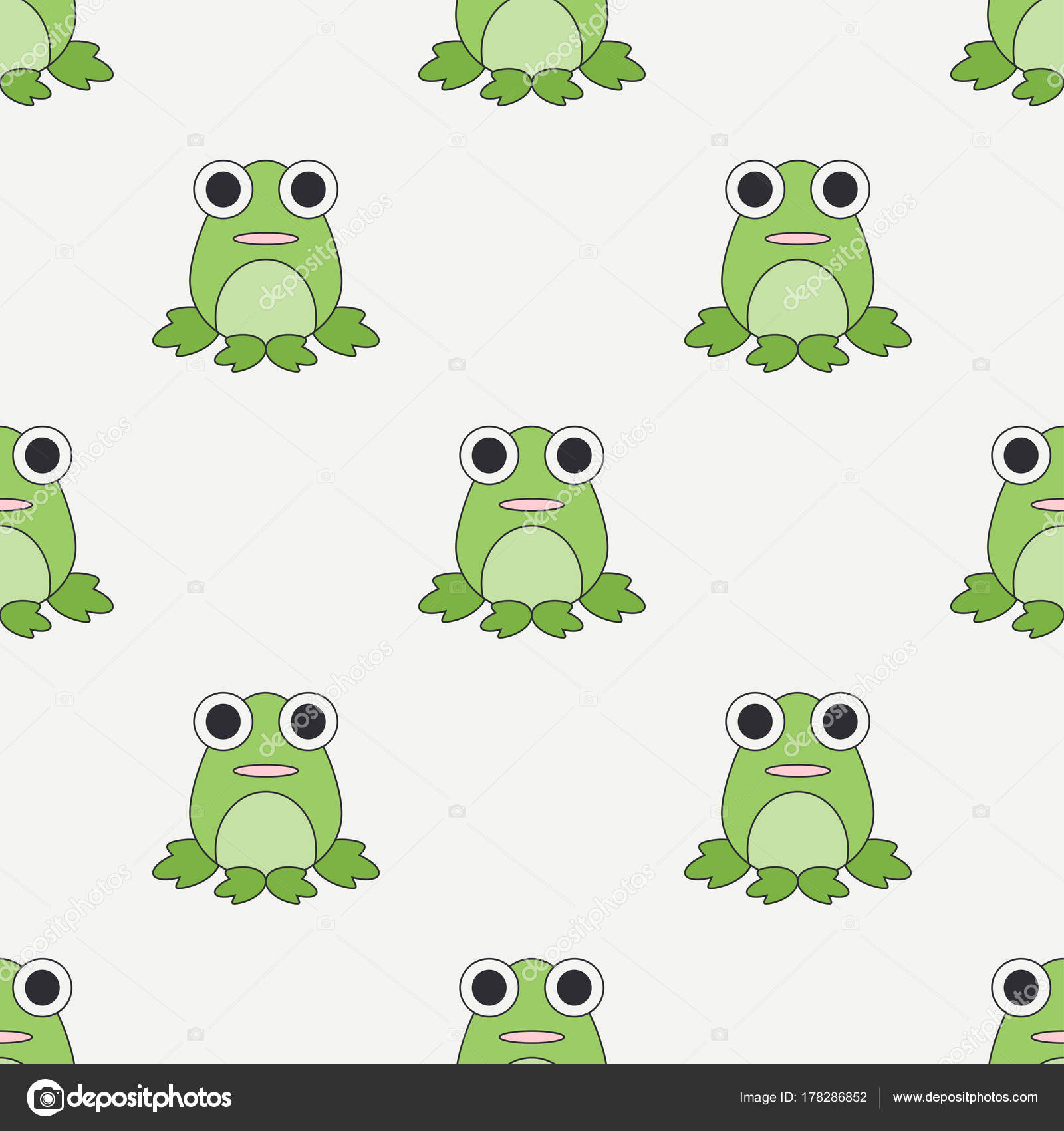 Flat line color vector seamless pattern cute animal for baby ...