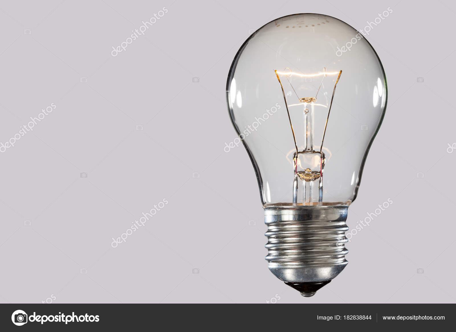 Spirale di lampada ad incandescenza u foto stock iava