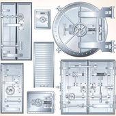 Dveře ocelové trezoru. Finance a podnikání Set