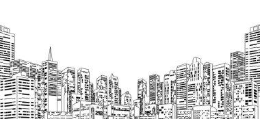Line Contour Cityscape