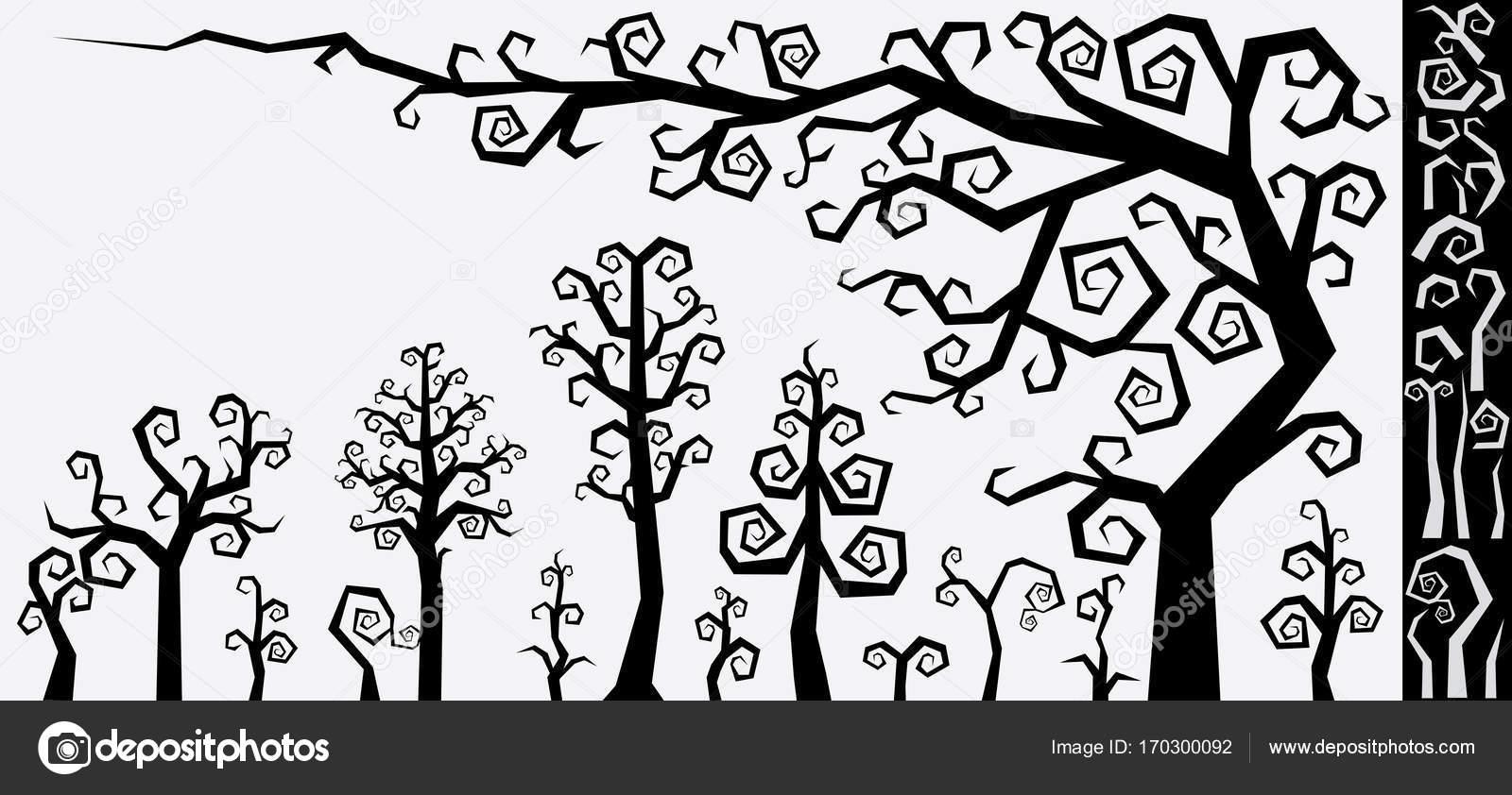 tree image vector royalty vectorstock free decorative decor