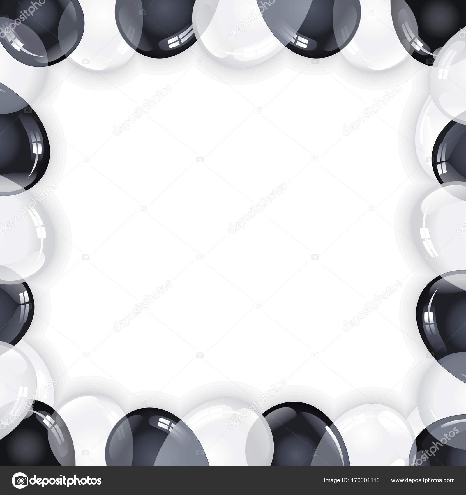 Schwarz weiße Ballons Feier Hintergrund — Stockfoto © PILart #170301110