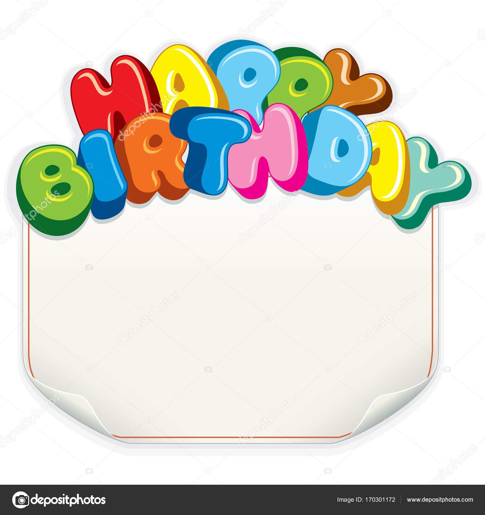 Geburtstag Karte Textvorlage — Stockfoto © PILart #170301172