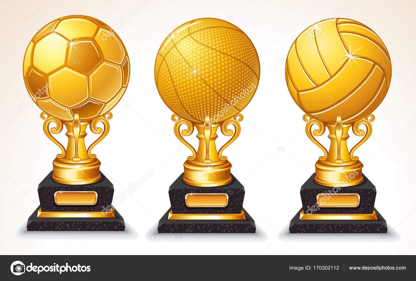 Trofeo De Bola De Deporte Oro Resumen