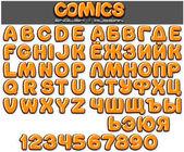 Classic 3D Comics Font. Children Set for Design