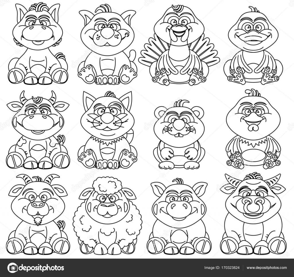 Páginas para colorear para niños — Vector de stock © PILart #170323824
