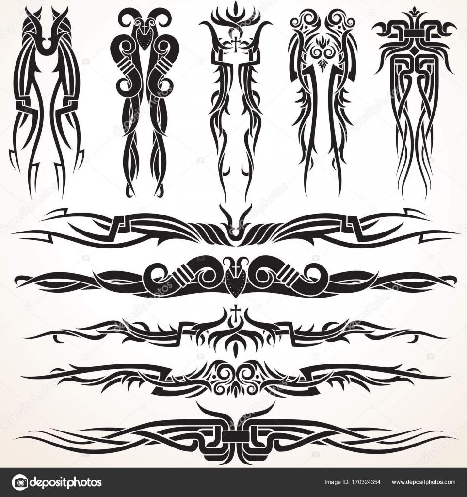 Maori Tribal Tattoo Design Elemente Stockvektor C Pilart 170324354