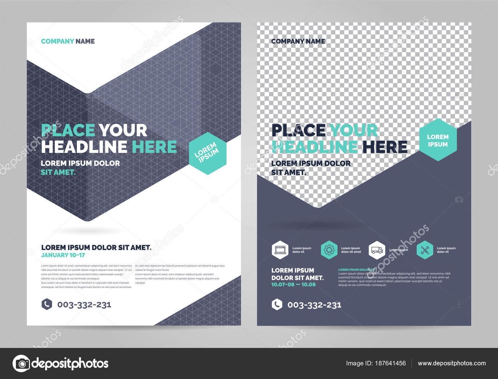 Diseño de plantillas de diseño de folleto — Archivo Imágenes ...