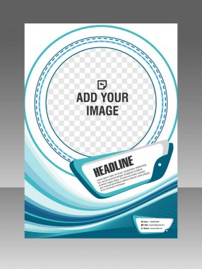 Round shape Layout business brochure. Layout flyer, template.  Stock Illustration