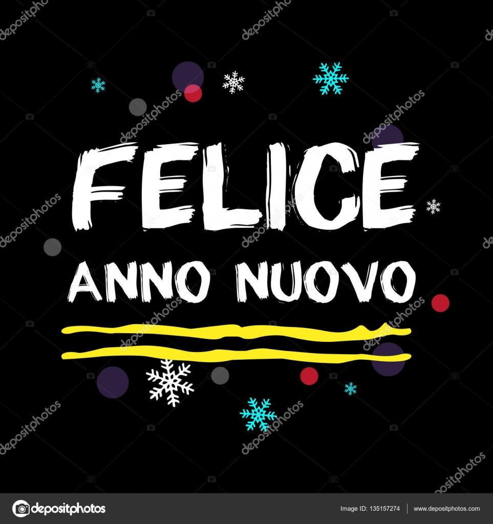 Felice Anno Nuovo Frohes Neues Jahr Italienische Gruß Stockvektor