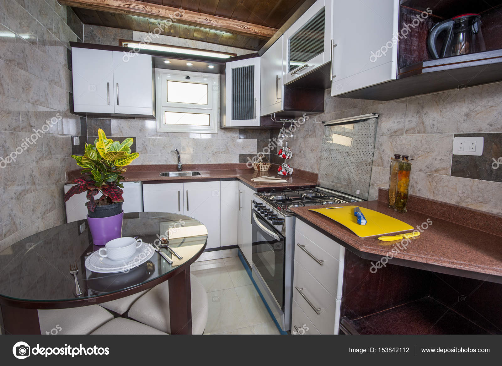 Interieur Design Küche im Hause Musterwohnung — Stockfoto ...
