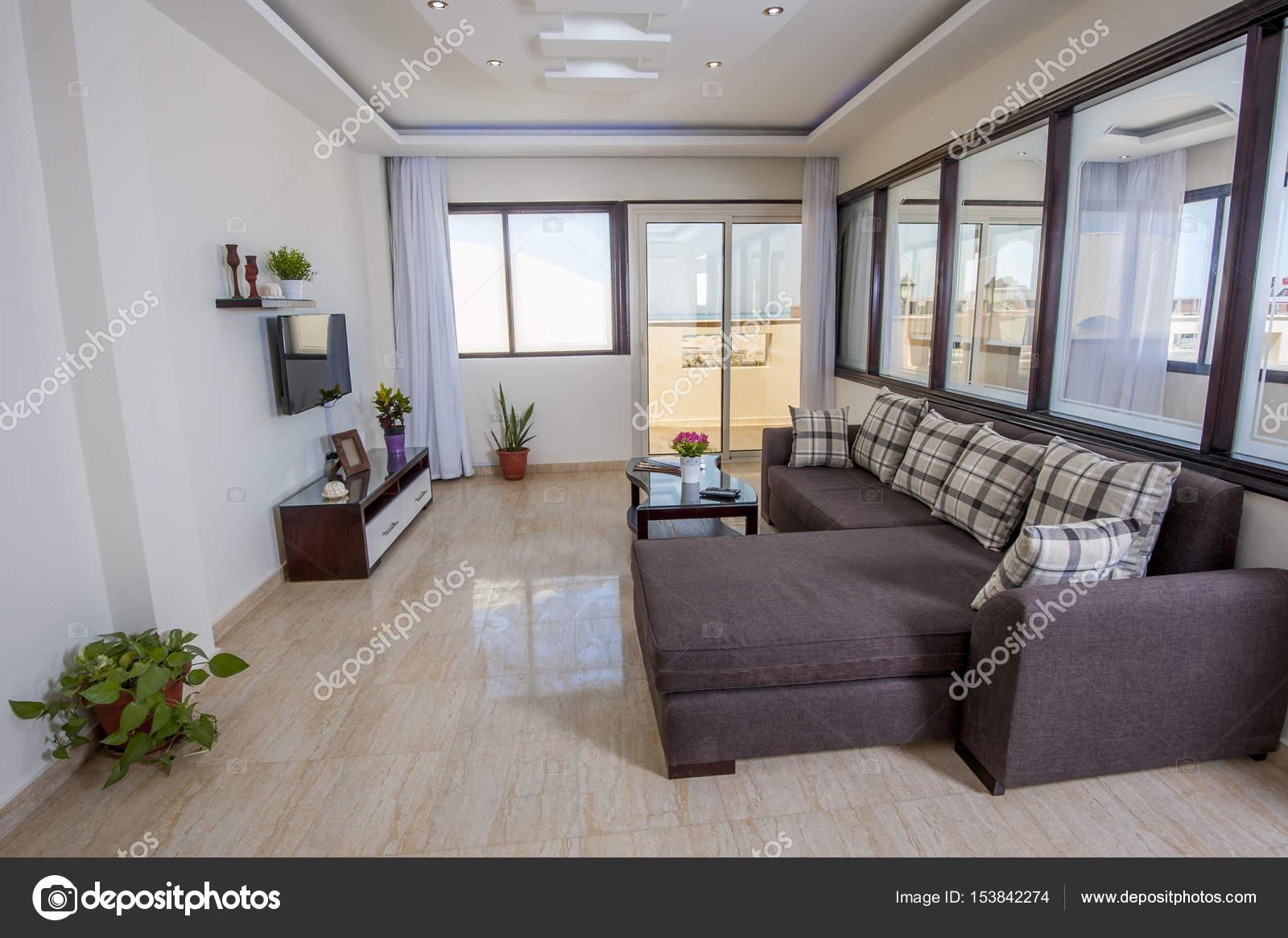 Interior design di lusso appartamento soggiorno — Foto Stock ...