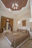 A hálószoba a ház belsőépítészeti