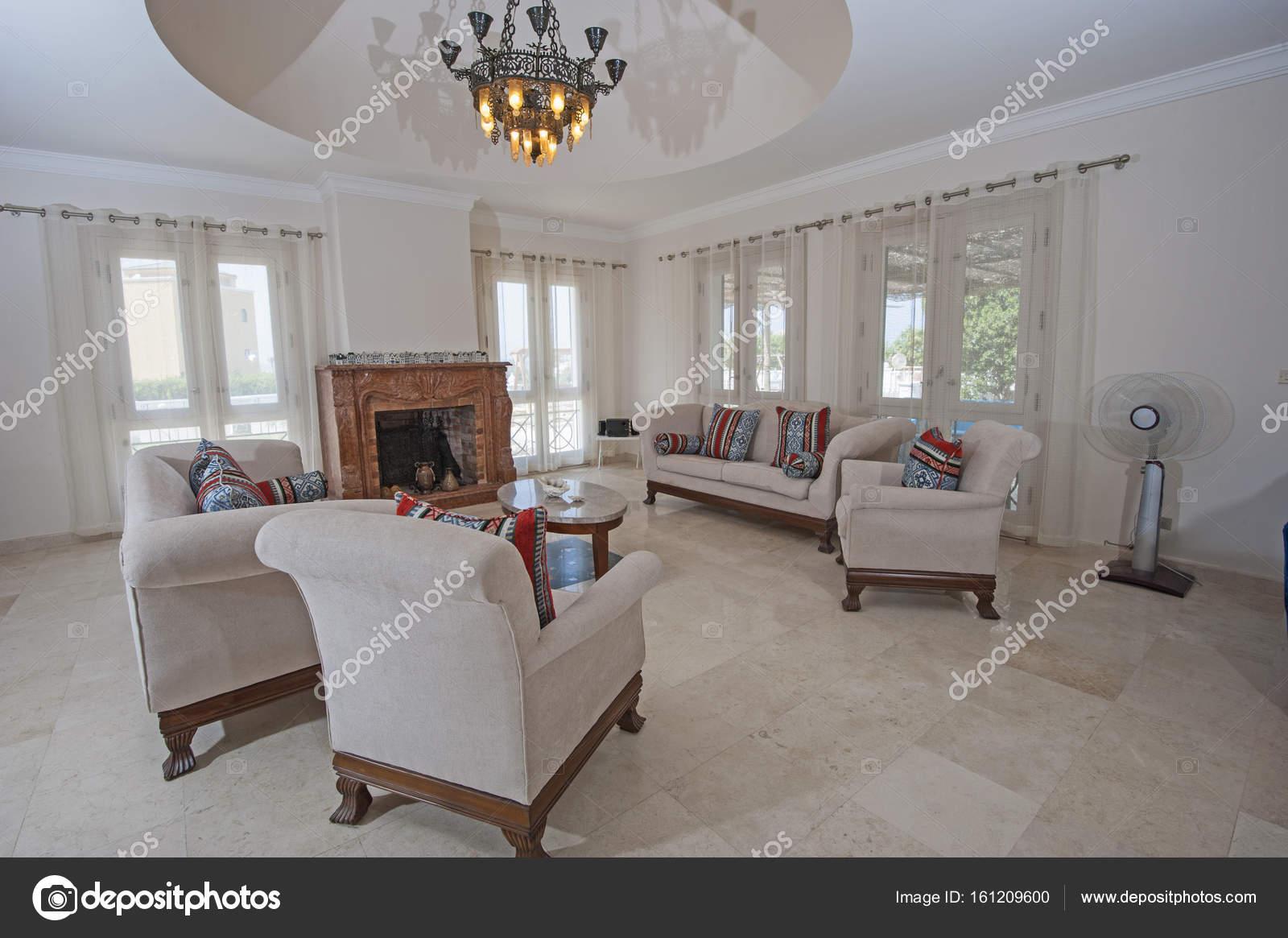 Interior Design des Luxus-Wohnung-Wohnzimmer — Stockfoto ...